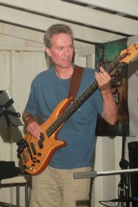 Exit Row Band - Paul driving the bass lines