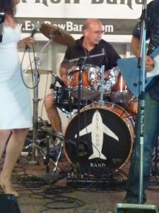 Exit Row Band - Glenn kickin' the beat