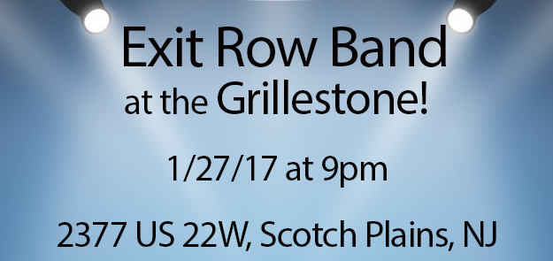 Top NJ Private Event Band Exit Row Band at Grillestone 2017