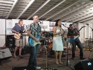 Exit Row Band - rocking the outdoor music fest